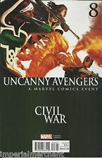 Marvel The Uncanny Avengers comic issue 8 Limited variant