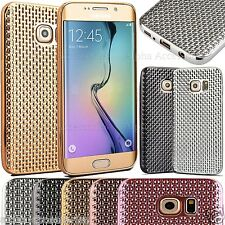 Luxury Electroplating Dotted Soft Clear TPU Case For Samsung Galaxy S7 & S7 Edge