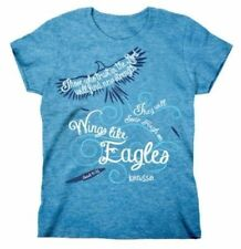 Wings Like Eagles Christian Missy T-Shirt by Kerusso Activewear Blue Brand NEW
