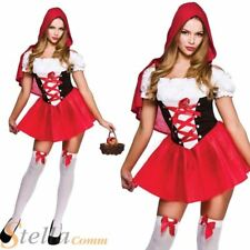 Ladies Sexy Red Riding Hood Fairy Tale Book Week Hen Party Fancy Dress Costume