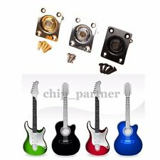1pc Universal Electric Guitar Output Jack Plate Socket Gloden/Silver/Black