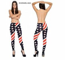 True Rock Z-Caramel 9522 Women's Patriotic Leggings - Red, White & Blue