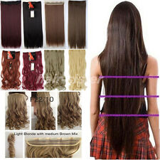 Real Thick Hair Piece Clip in Hair Extensions Extentions for as human hair ht16