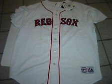 "NEW MENS MAJESTIC WHITE ""BOSTON RED SOX "" #38"" JERSEY SIZE XL"