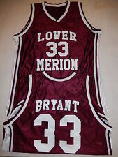 5500 Mens Los Angles Lakers KOBE BRYANT Lower Merion Basketball JERSEY Maroon
