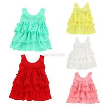 Kid Toddler Baby Girl Cake Dress Sundress Newborn Tutu Skirt Layered Short Dress