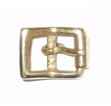 "SOLID BRASS FULL ROLLER MILITARY STYLE BELT STRAP BUCKLE 1/2"" - 12MM"