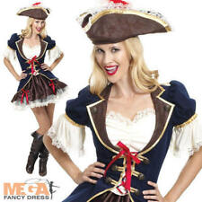 Sexy Captain Buccaneer Ladies Costume Pirate Caribbean Womens Fancy Dress Outfit