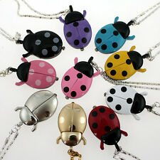 Lot of 10PCS Ladybug Pendant Necklace Quartz Dress Watch Gift GL02T