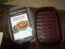 Clever Kitchen Microwave BBQ Chicken Roaster WITH Recipe Cookbook NEW