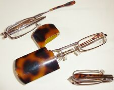 1 PAIR FOLDING READING GLASSES IN A TORTOISE SHELL CASE CLOSEOUT LIMITED POWERS