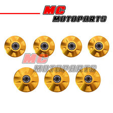 Gold CNC Billet Frame Plugs Kit For Ducati 848 S / R EVO 2008-2013 09 10 11 12