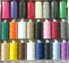 24 x MOON ASSORTED COLOUR POLYESTER SEWING THREADS COTTON 120s