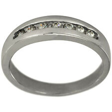 Classic Diamond Wedding Band With Channel Set Diamonds
