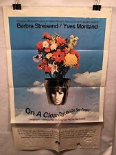 """Original 1970 """"On a Clear Day You Can See Forever"""" 1 Sheet Movie Poster 27x 41"""""""