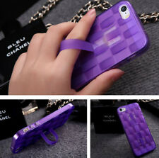 Soft TPU New Weave Ring Stand Rubber Skin Cover Case for Apple iPhone 6&6S&Plus