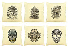 Vietsbay Skull  Printed Cotton Decorative Pillows Cover Cushion Case VPLC