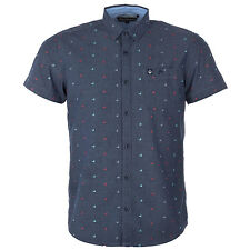 Mens Duck And Cover Porter Short Sleeve Duck Shirt In Deep Navy