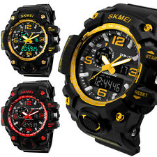 Skmei Waterproof Date Week Silicone Digital Analog Alarm Mens Sport Wrist Watch