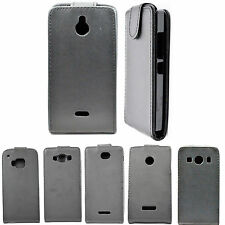 Magnetic Black PU Leather Case Flip Hard Cell Phone Cover Skin For Cell Phones