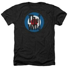 T-Shirts Size S-2XL New The Who Logo Heather Mens T-Shirt in Black Heather