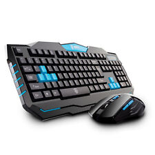 2.4GHz Delog V90 Wireless Ergonomic Multimedia Gaming Keyboard + 6 Buttons Mouse