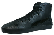 Puma 4M Mix Womens Leather Sneakers / Shoes - Black 35184002