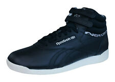 Reebok Classic Freestyle Hi Eden Womens Leather Sneakers / Shoes - Black V60217