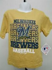 NEW-MINOR-FLAW Milwaukee Brewers Toddler Sizes 12M-18M-3T-4T Shirt