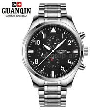 GUANQIN Luxury Men Automatic Mechanical Waterproof Day Sport Military Watch W5C8