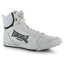 Lonsdale Boxing Boots Shoes Mens White/Black Sneakers Sparring Muay Thai MMA