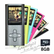 "8GB Digital MP3 MP4 Player 1.8"" LCD Screen FM Radio Video/Games & Movie HOT"
