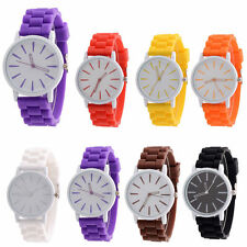 Unisex Silicone Rubber Jelly Gel Quartz Analog Sports Women Wrist Watch Chic