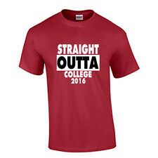 Class of 2016 COLLEGE Graduation T Shirt Graduate Tee Straight Outta Cardinal