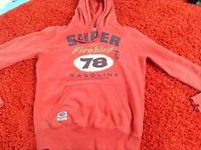 Women's Red Superdry Classic Re-issue Hoody Size Medium
