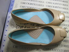 NIB Crocs  Women's BALLERINA Flats Slip On Slides Stefano Furiani Gold