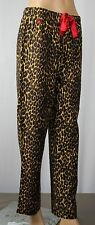 Ralph Lauren Leopard Print Pajamas PJ's Sleep Pants Red Tie NWT