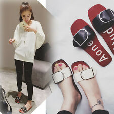 Summer New Fashion Womens Sandals Flat Slippers Personality Flip Flops Shoes