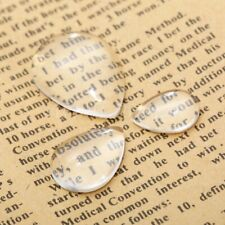 Clear Glass Cabochon Dome Drop-type Flat Back Pendants Craft Magnify Base Cover