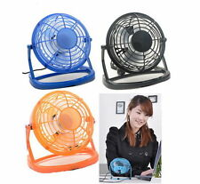 Portable USB Mini Cooler Cooling Fan Desk Mute Laptop Computer + Key Switch New