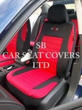 TO FIT A FIAT PUNTO CAR, SEAT COVERS, VRX SPORT RED FULL SET