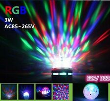 3W Rotating RGB projector Crystal LED Stage Light Magic Ball DJ party disco Bulb