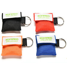 CPR Mask Keychain Bag Emergency Face Shield First Aid Rescue Bag Kit EW