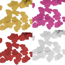 Sparkle Metallic Love Heart Wedding Party Table Confetti Decor Sprinkles Scatter