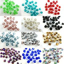 New 8mm Faceted Bicone Crystal Glass Loose Spacer Beads Findings Crafts Charms