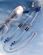 Doctor Who Eyeglasses Necklace Stainless Steel Chain Police Phone Box Dr Tardis