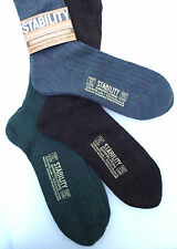 STABILITY Men's long socks UNUSED vintage 1970s UK shoe size 10 Wool nylon