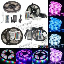 3528 5050 RGB SMD Flexible 300/600leds LED Strip Light +IR Remote +Power Adapter