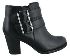 Clarks Palma Rena  Boot Leather Womens Ankle Boots  Mid Heel