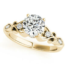 14k Gold Round Solitaire Diamond Heart Engagement Ring 2.10ct (G-H, SI1-SI2)